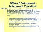 office of enforcement enforcement operations1