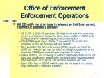 office of enforcement enforcement operations2