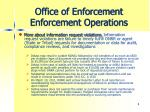 office of enforcement enforcement operations3