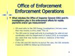 office of enforcement enforcement operations8
