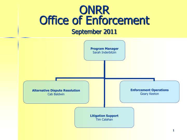onrr office of enforcement september 2011 n.
