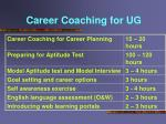 career coaching for ug