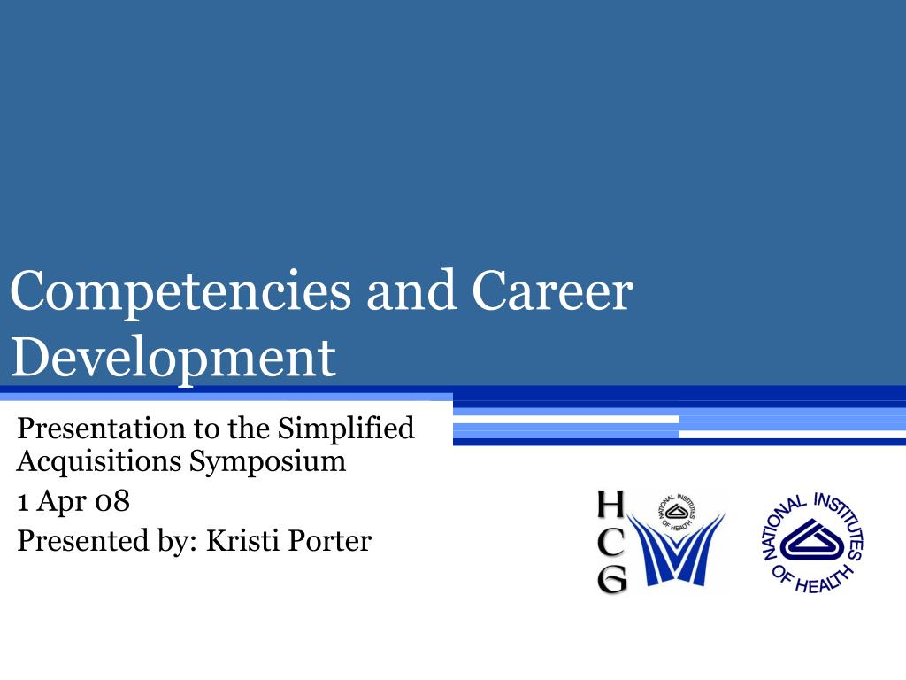competencies and career development l.