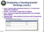 designing a developmental strategy cont18