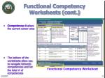 functional competency worksheets cont