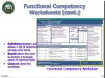 functional competency worksheets cont14