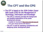 the cpt and the cpg