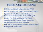 florida adopts the usng