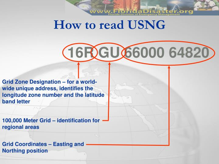 How to read USNG