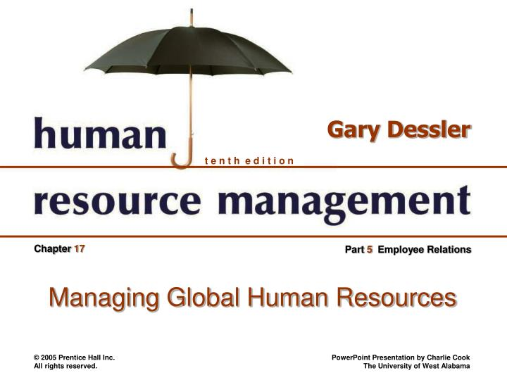 managing global human resources n.