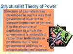 structuralist theory of power