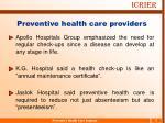 preventive health care providers