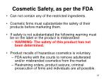 cosmetic safety as per the fda