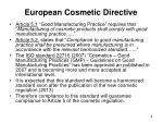 european cosmetic directive
