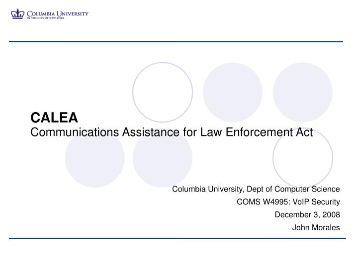 calea communications assistance for law enforcement act n.