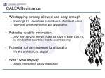 calea resistance