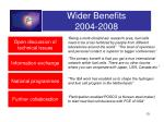 wider benefits 2004 2008