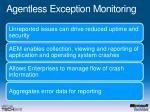 agentless exception monitoring