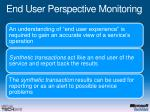 end user perspective monitoring