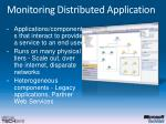 monitoring distributed application