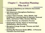 chapter 1 transition planning who am i