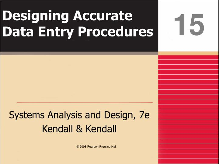 designing accurate data entry procedures n.