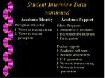 student interview data continued