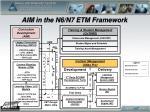 aim in the n6 n7 etm framework
