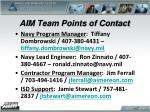 aim team points of contact