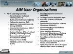 aim user organizations