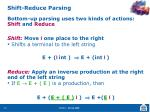 shift reduce parsing