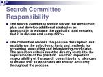 search committee responsibility