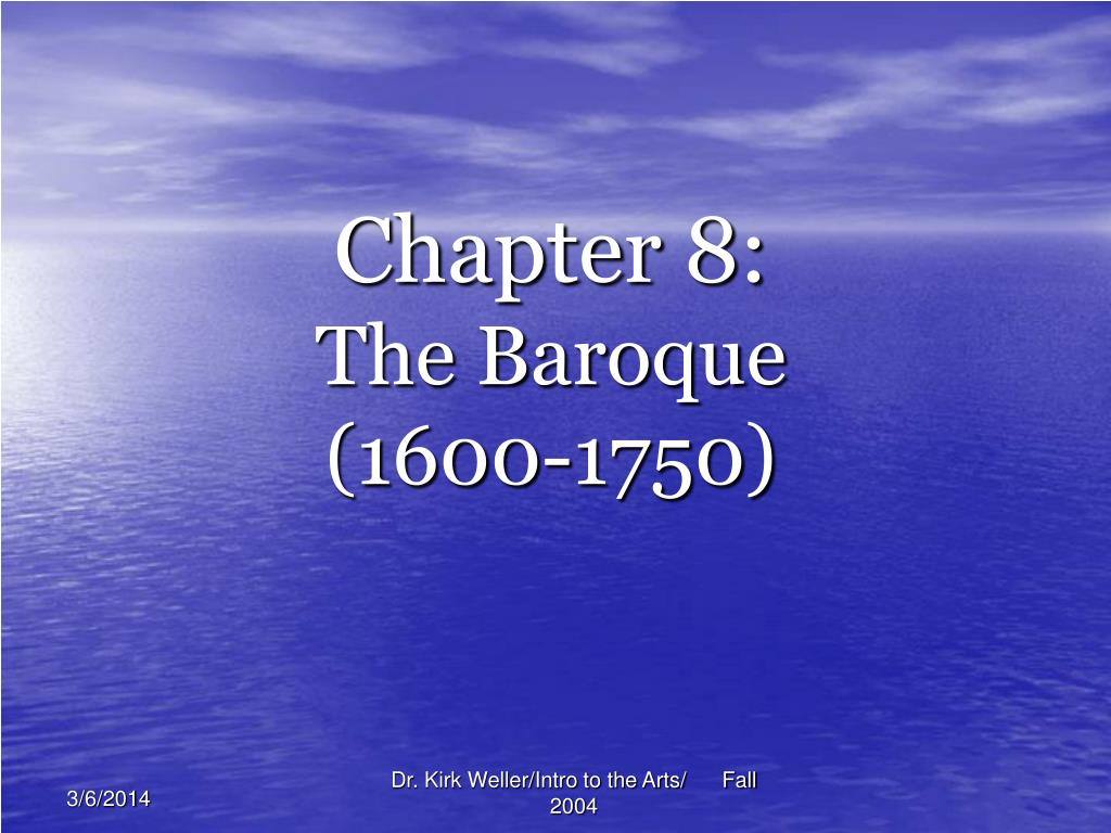 chapter 8 the baroque 1600 1750 l.