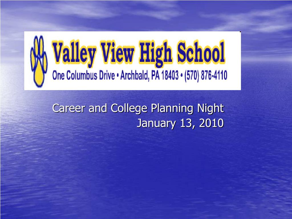 career and college planning night january 13 2010 l.