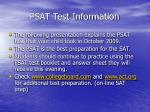 psat test information
