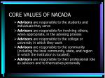 core values of nacada1