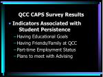 qcc caps survey results