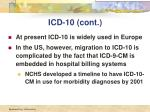 icd 10 cont1