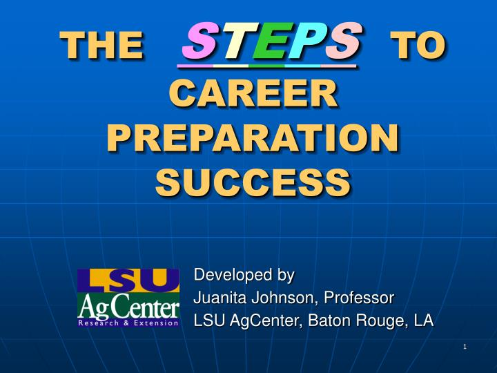 the s t e p s to career preparation success n.