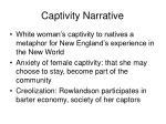 captivity narrative