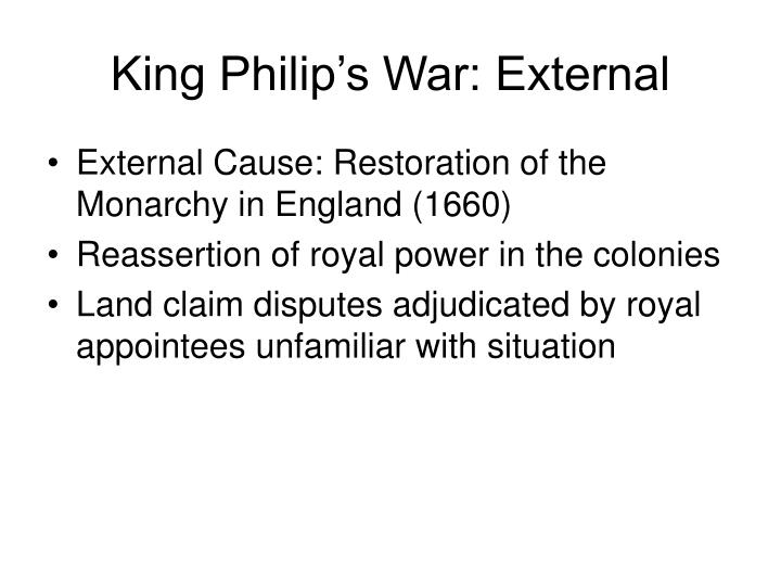 what caused king philips war