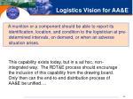 logistics vision for aa e