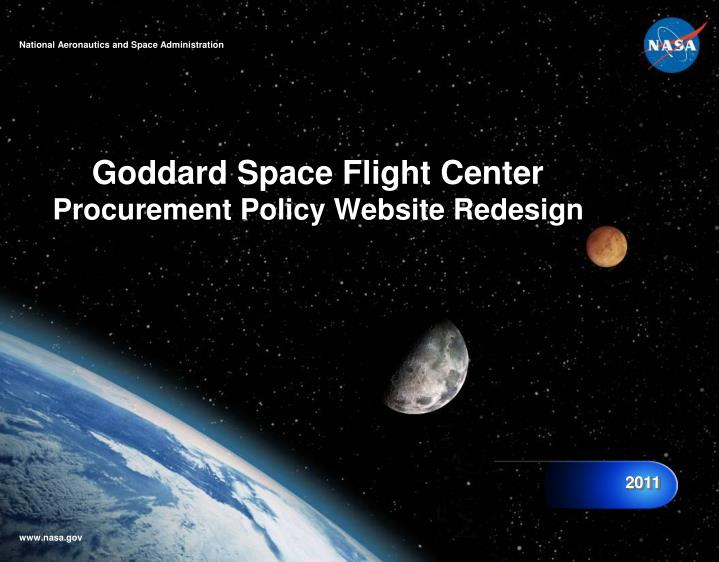 goddard space flight center procurement policy website redesign n.