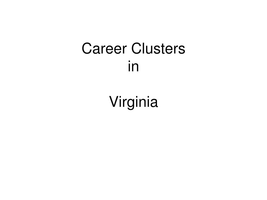 career clusters in virginia