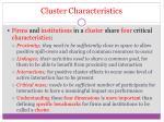 cluster characteristics