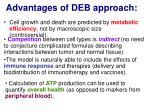 advantages of deb approach