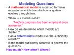 modeling questions