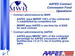 aafes contract concession food operations