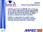 aafes direct food operations