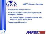 nbff keys to success